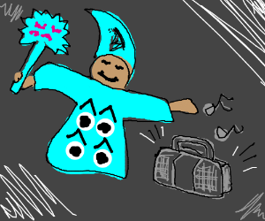 Cavern wizard jams out