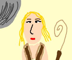 Blonde genderbent Indiana Jones without hat