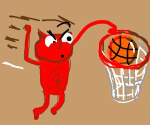Satan slam dunks