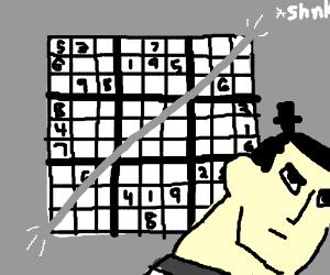 Sudoku with a katana