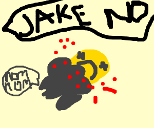 jake the dog (adventure time) gets eaten