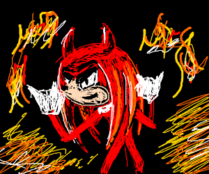 Knuckles (Sonic) is actually Satan