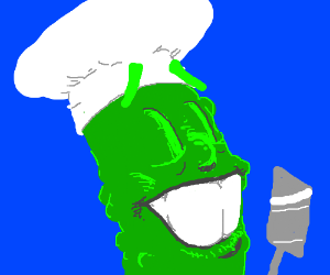 Mr Pickle is SO Happy to be a Chef