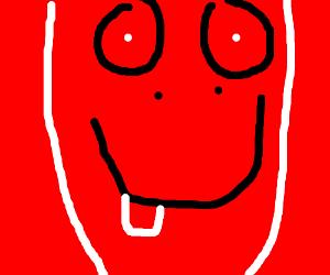 A happy, smiling dragon head