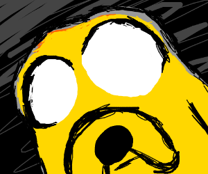 Jake has very large eyes