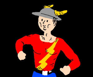 The Flash Jay Garrick Drawing By Stinky Finky Porkchop Drawception
