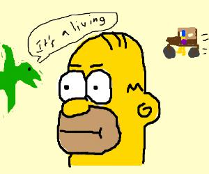 """Homer Simpson are de Flintons """"D'eer"""""""