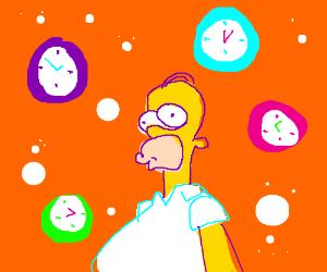 Homer, time traveller