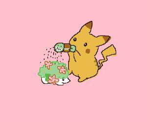 Just pikachu seasoning his garden nbd