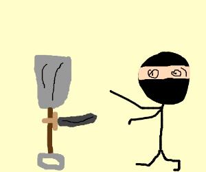 A shovel defends itself