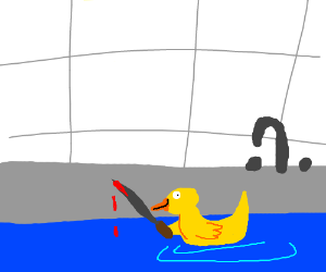 rubber ducky will clean you... to death