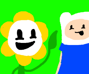 Flowey and Finn- coolest bros for ever and eve