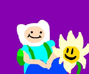 Finn meets your best friend (Flowey)