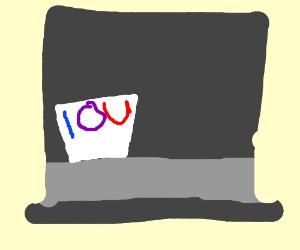 IOU hat