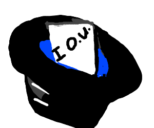 iou in a hat