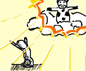 summoning the cow god