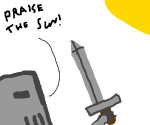 knight praising the sun