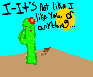the cactus is, the most tsundere of plants