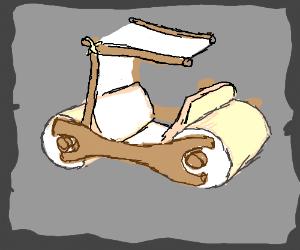 Flintstones stone car
