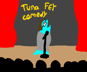 Tuna fey, a comedian with glasses and is a fis