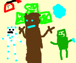MineCraftian Groot and Friends