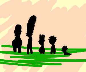 Cute Simpson's family with no limbs or faces