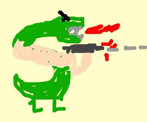 Trogdor goes on a shooting spree.