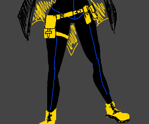bottom half of batgirl