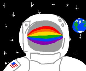 rainbow astronaut