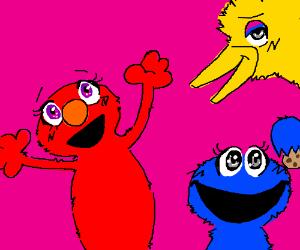 Kawaii Sesame Street