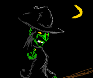 This witch be flyin yoh