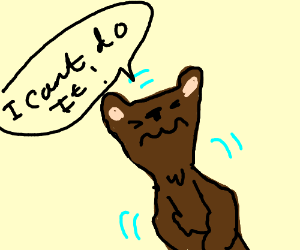 Nervous bear