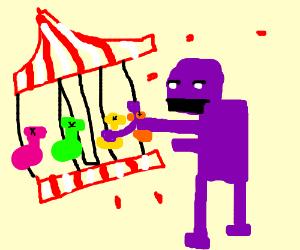 Purple guy kills a merry-go-round