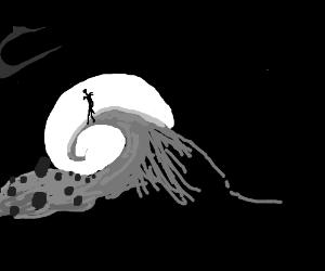 Jack Skellington in the moon