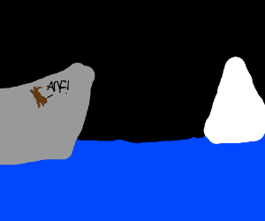 Dog Jumps off of the titanic