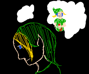 Link daydreams about his death