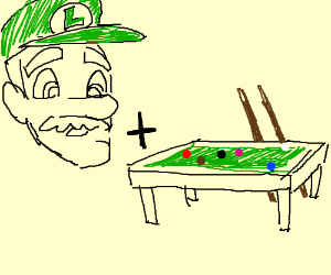 Luigi Ballard Drawception - Ballard pool table
