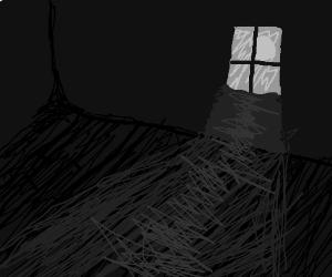 Dark Room With Light Through Window