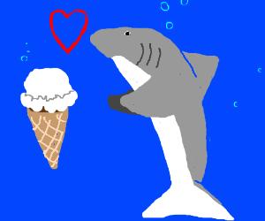 Sharks love ice cream
