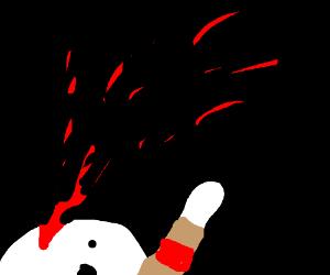 i did nazi that comi- shot to the head