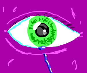 purple person cries