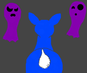 blue deer encounters purple ghosts