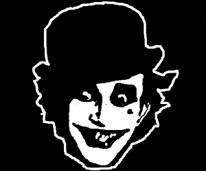 really creepy joker
