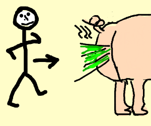 how to draw a fart