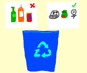 Memes only recycling bin