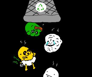 Emptying the wastebasket of memes