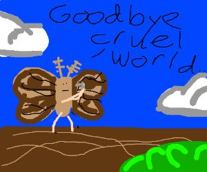 moth suicide! oh no!