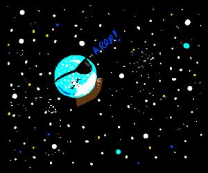 Pirate Snowglobe in Space