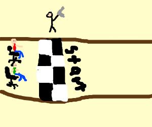 office chair race