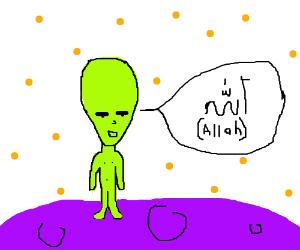 Alien knows Arabic